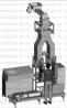 МР268 - полуавтоматическая двухголовочная линия для упаковки в клапанные мешки едкого натра по 25 кг