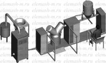 Полуавтоматическая линия смешивания и упаковки